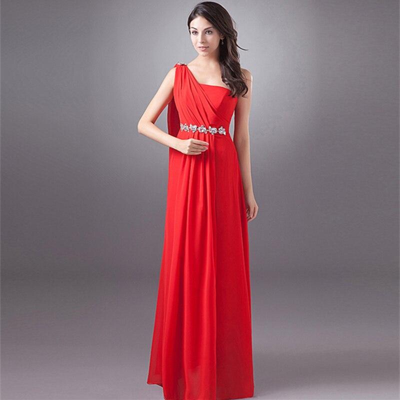 Cheap Long Red Bridesmaid Dresses