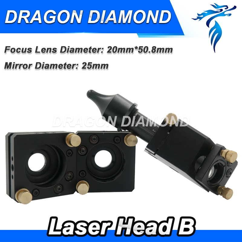 laser head and mirror mounts for 20mm lens 25mm mirror for laser engraving and cutting machine high quality machine spare parts laser head and mirror mounts for co2 laser engraving machine