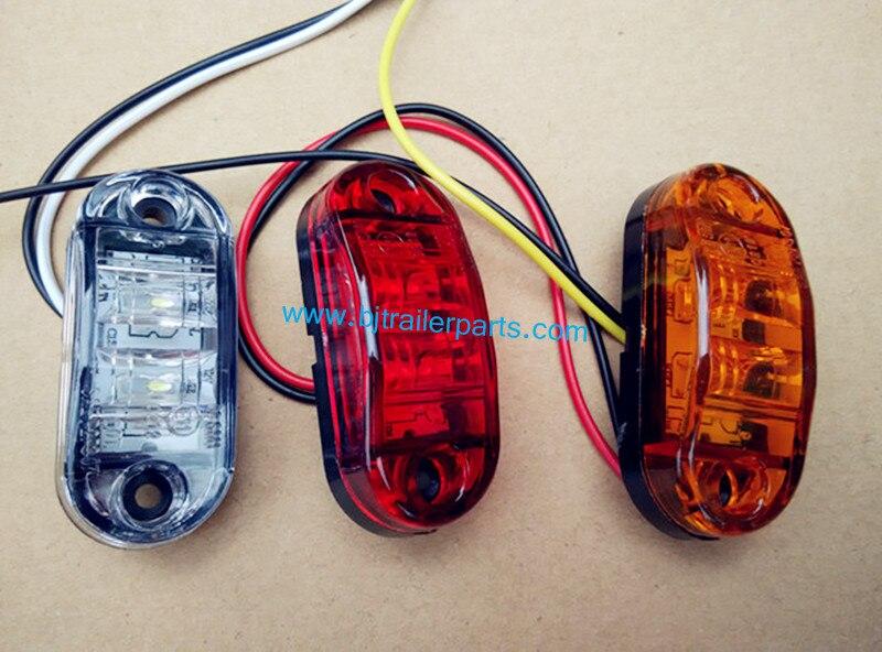 Led Lampen Aanhangwagen : Wit led zijmarkeringslamp ontruiming lamp auto vrachtwagen