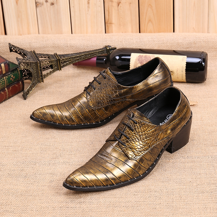 2017 European style fashion men's real leather shoes brown embossed leather formal oxfords for men retro pointed business shoes angle grinder parts 100 type resin grinding wheel piece metal sheet page 5