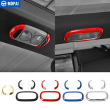 MOPAI ABS Car Interior Reading Light Frame Decoration Cover Trim Stickers for Jeep Wrangler JK 2011 Up Car Accessories Styling