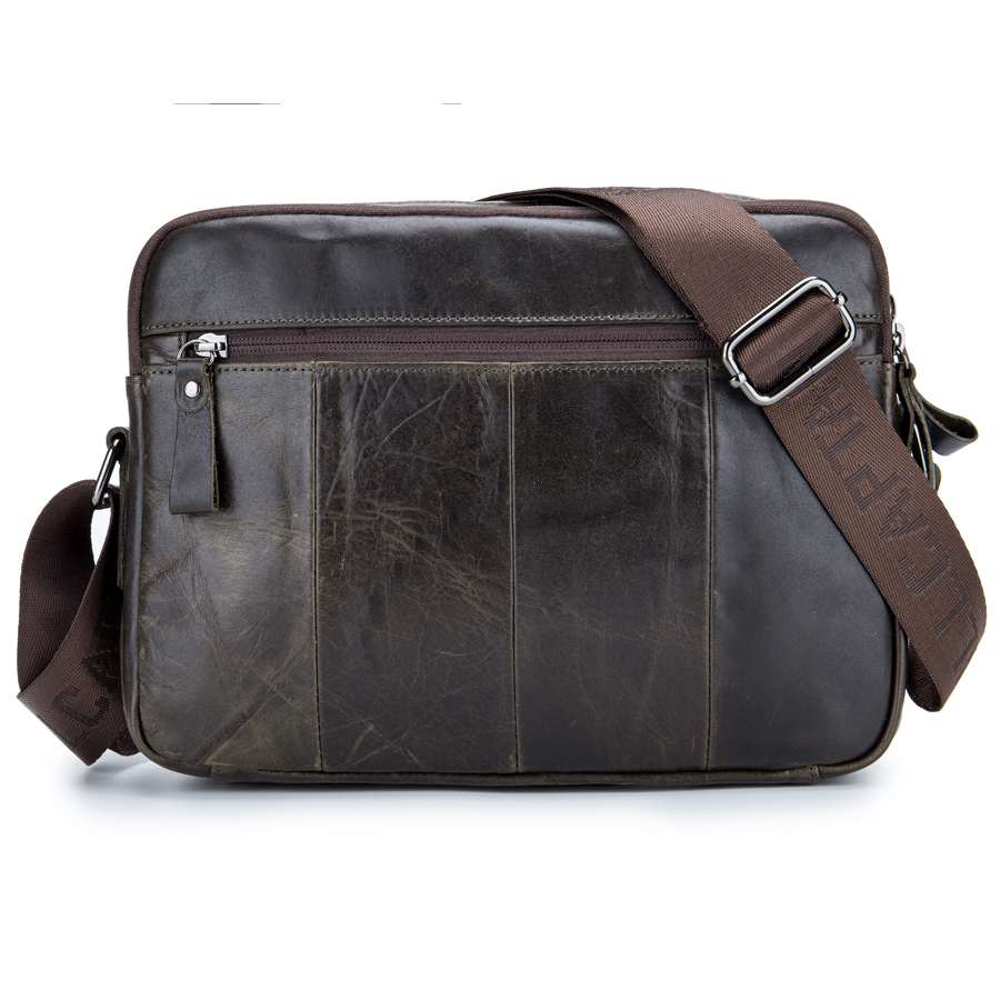 Brand New Genuine Leather Casual Cross Body Shoulder Bag Mens Cowhide Messenger Bags Travel Pack For Camera Cell Phone Wallet