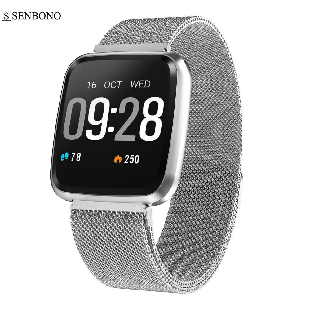 SENBONO smart watch men women Fitness Bracelet heart rate monitoring with tracker reminder waterproof IP67 sports smartwatch