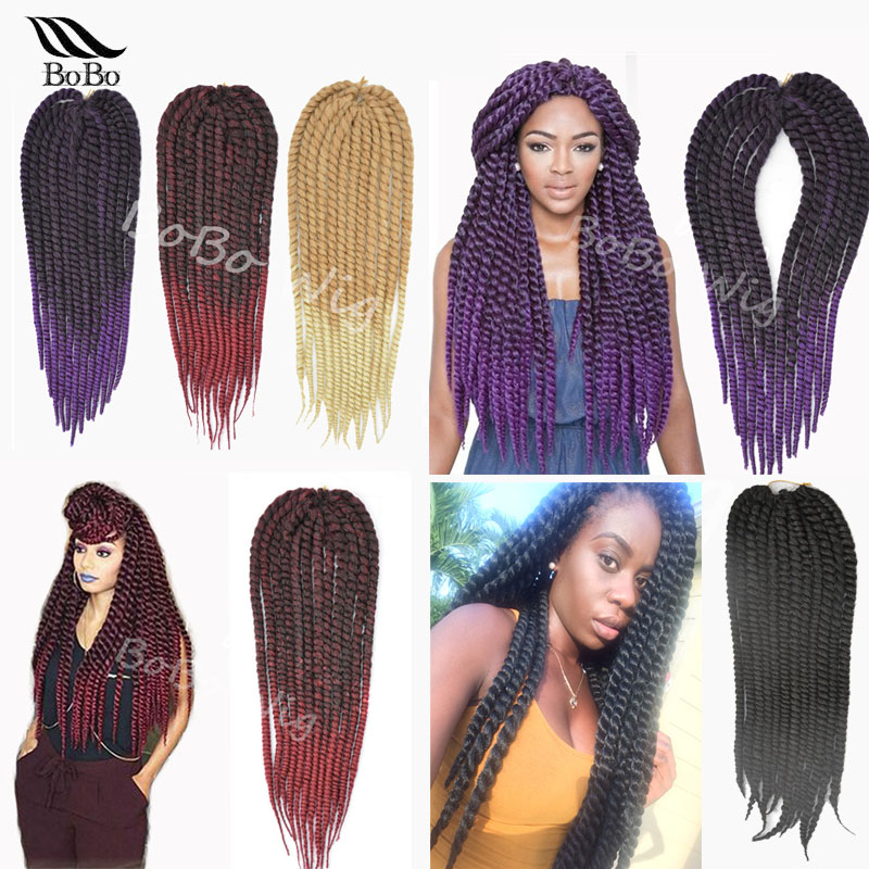 /pack Havana mambo twist crochet braids hair faux locs crochet hair ...