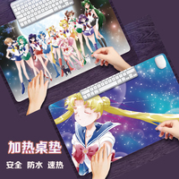 Anime Action Figure Printed Sailor Moon Winter Warm Heating Notbook Computer Mouse Pad Hand Warmer 220v Waterproof Table Mat New