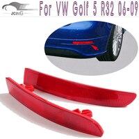 2 قطعة/المجموعة abs المصد الخلفي عاكسات الذيل الأحمر قناع يغطي ل volkswagen vw golf mk5 r32 5 فولت فقط 2006-2009
