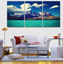 3 Picture On A Wall Panel Modern Ocean Landscape Printed Canvas Painting Posters Paintings On The Wall For Home Decor Wall Decor