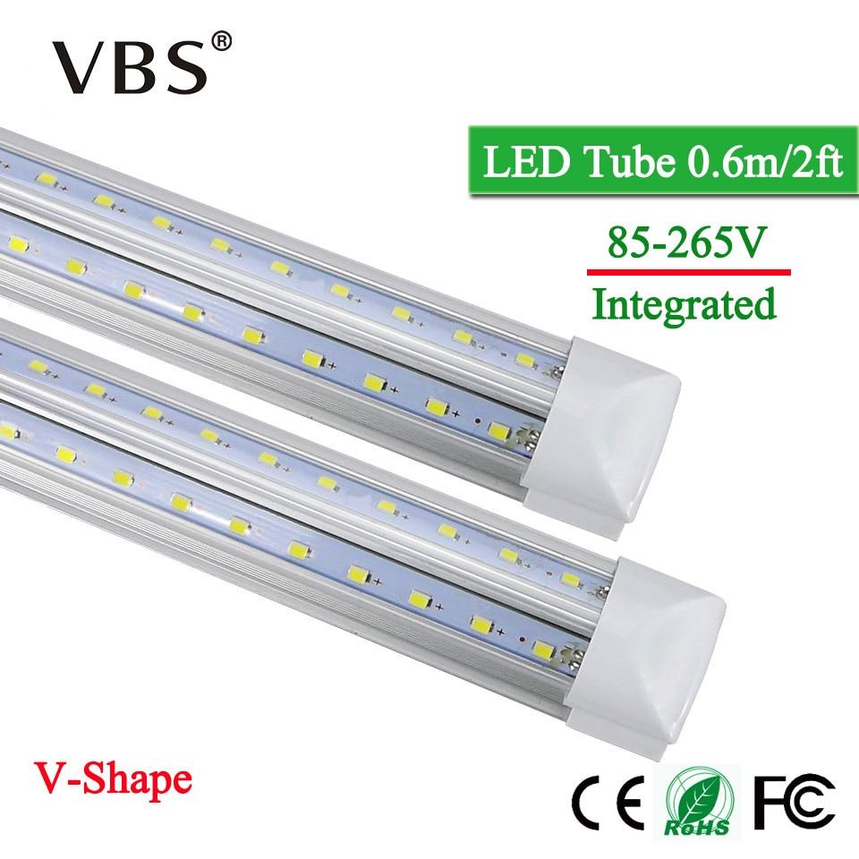 T8 conduziu a luz 20 w integrada dos tubos dos bulbos do diodo emissor de luz da lâmpada 220 v 110 v 2000lm v-forma conduziu a luz fluorescente do tubo para a iluminação de casa
