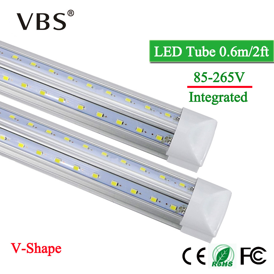 T8 Led Tube Light 20W Integrated Led Bulbs Tubes Lamp 220V 110V 2000lm V-Shape Led Fluorescent Tube Led Light For Home Lighting hbt35140100 universal 3 7v 6000mah built in battery for 9 7 10 10 1 tablet pc silver