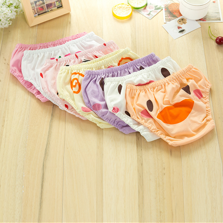 7 colors baby 95% cotton small panties. Boys and girls cute underwear. Baby bread pants, cartoon baby briefs 0-3years