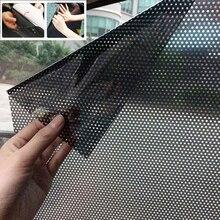 2 adet PVC araba güneşliği yan pencere kalkan DIY araba güneş tonları Film elektrostatik etiket güneş koruma pencere şemsiyeleri