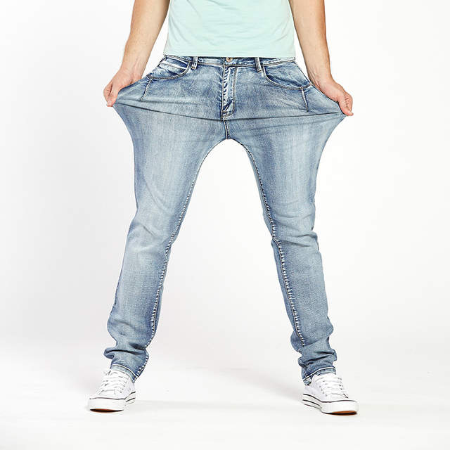 661d0d2a Drizzte Brand Mens Jeans Trendy Stretch Blue Grey Denim Men Slim Fit Jeans  Trousers Pants Size 30 32 34 35 36 38 40 42 44 Jean-in Jeans from Men's  Clothing ...
