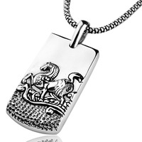 Handmade 925 Sterling Silver The Chinese 12 Animal Amulet The Chinese Zodiac Pendant