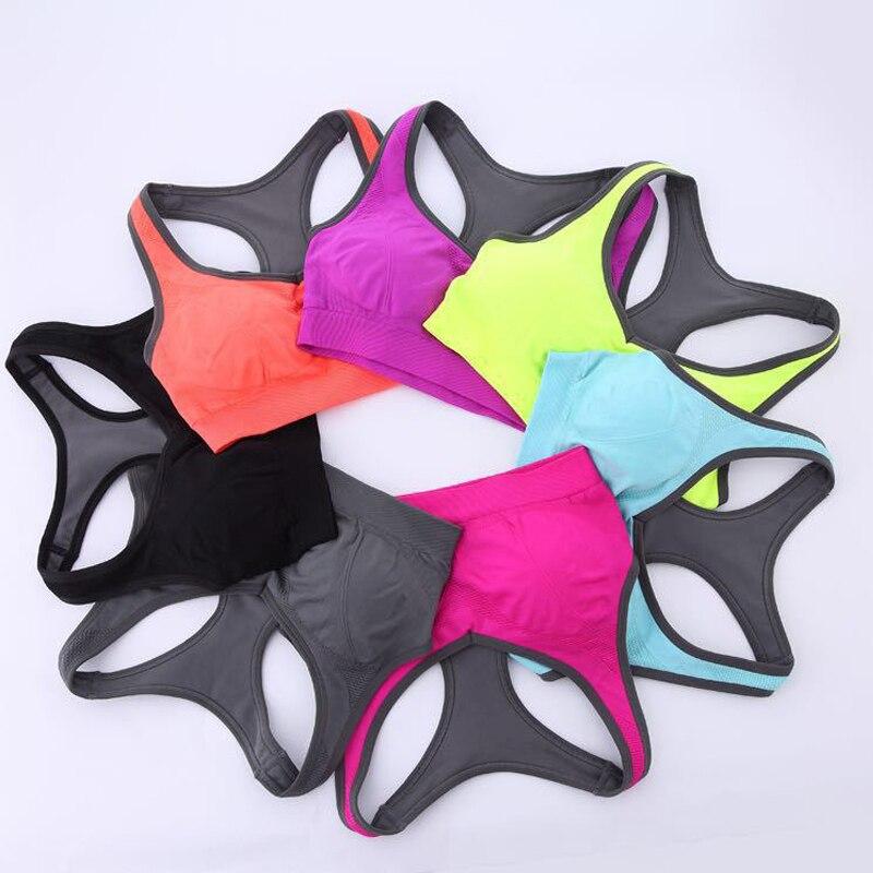 Prix pour Femmes soutien-gorge de sport remise en forme anti-vibrations sports d'été push up soutien-gorge rembourré en cours d'exécution yoga sport soutien-gorge femmes