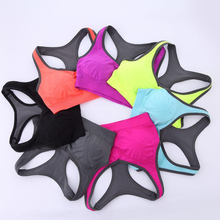 women sports bra fitness anti-vibration summer sports push up bra padded running yoga sports bra women