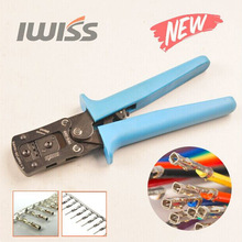 IWISS Dupont Pin Crimping Tool 2.54mm 3.96mm 28-18AWG 0.1-1.0mm2 Compression Ratcheting Modular Insulated Terminal Crimper(China)