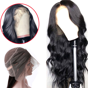 Superfect 360 Lace Frontal Wig Pre Plucked With Baby Hair Remy Brazilian Body Wave Lace Front Human Hair Wigs For Black Women