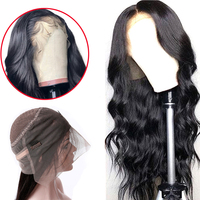 Superfect 360 Lace Frontal Wig Pre Plucked With Baby Hair Remy Brazilian Body Wave Lace Frontal Human Hair Wigs For Black Women