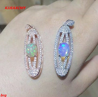 KJJEAXCMY boutique jewelry,925 silver natural Opal ladies pendants to send chains