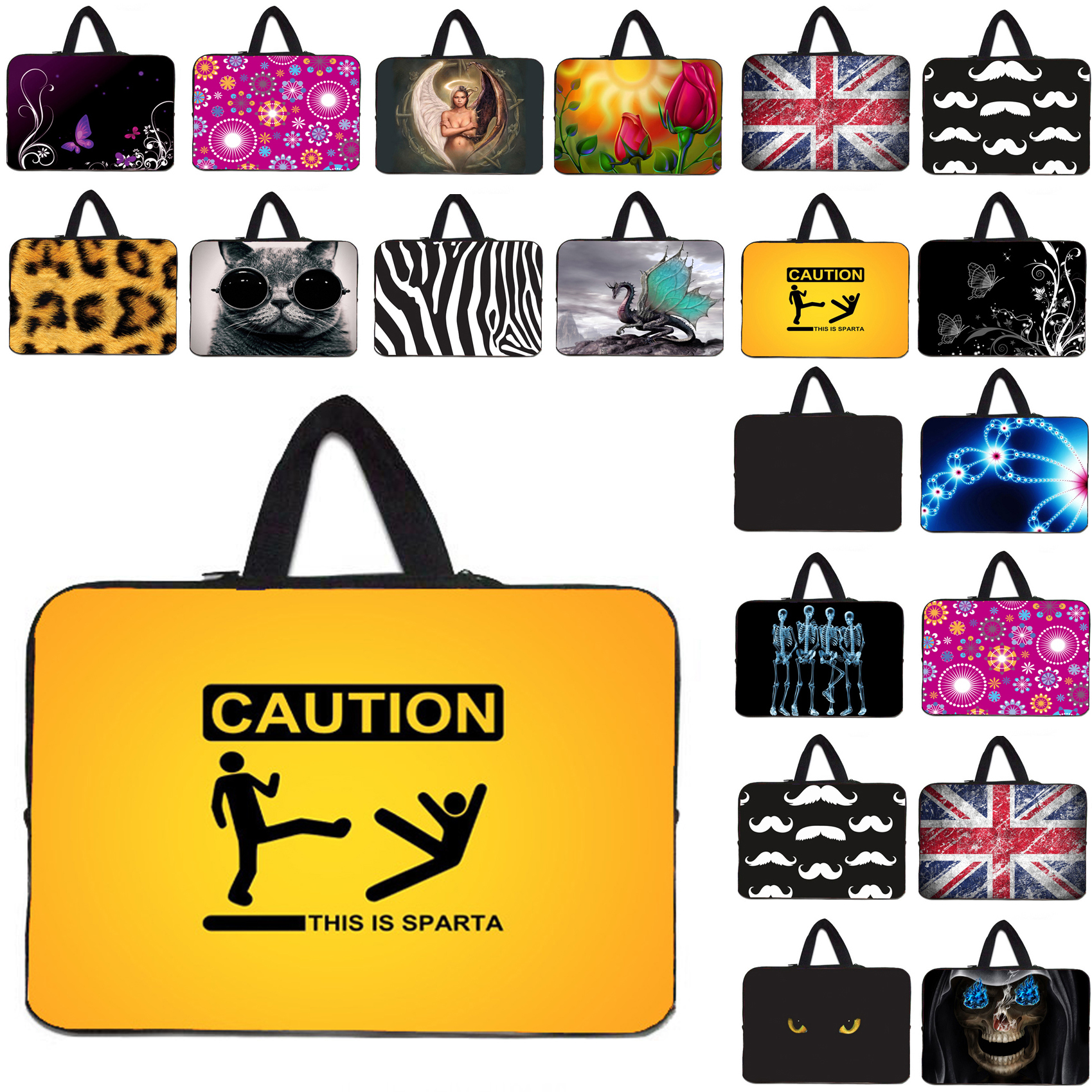 womens carry bag neoprene shockproof 7.9 11.6 10 12 13 14 15 17 laptop sleeve bag notebook pc handle bag cover cases soft pouch