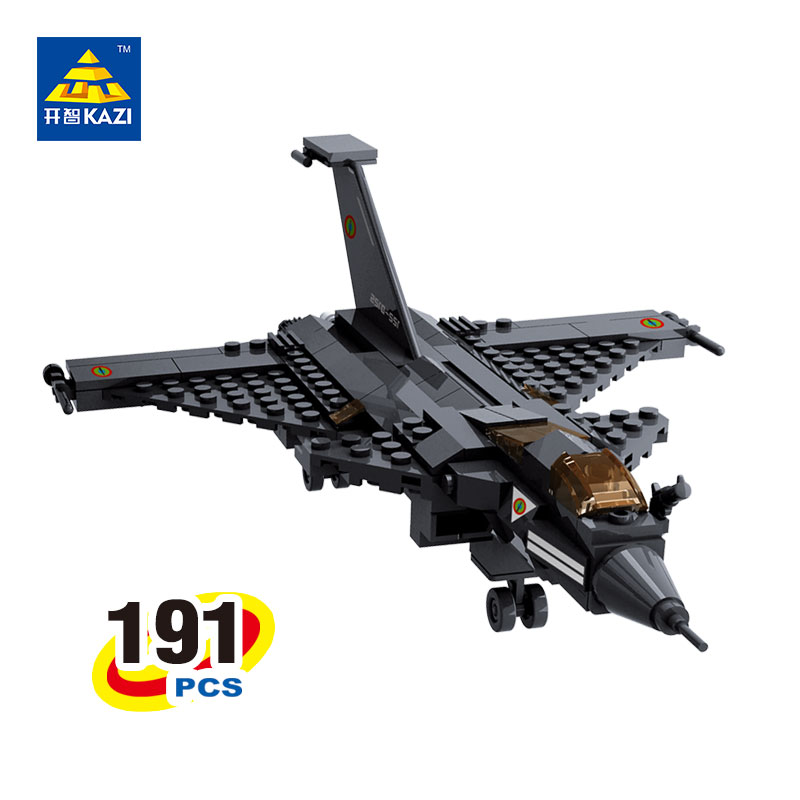 KAZI 191 PCs 98407 Military Fighter Airplane Bricks Building Blocks Sets Educational Toys For Children Compatible with LEPIN kazi building blocks toy pirate ship the black pearl construction sets educational bricks toys for children compatible blocks