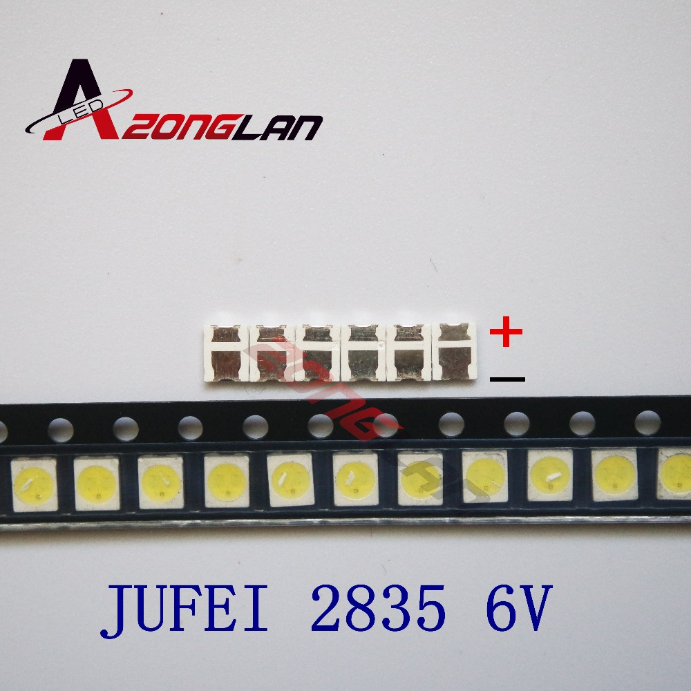 1000pcs  JUFEI LED Backlight Light Beads 1210 3528 2835 1W 6V 96LM Cool White LCD Backlight TV Light Beads 01.JT.2835BPWS2-C