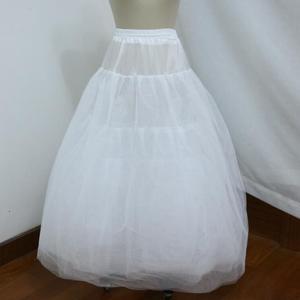 Image 2 - Hoopless 8 Layers Hard Tulle Wedding Petticoats Luxury Princess Quinceanera Dresses Underskirt Long Crinoline Tulle S40