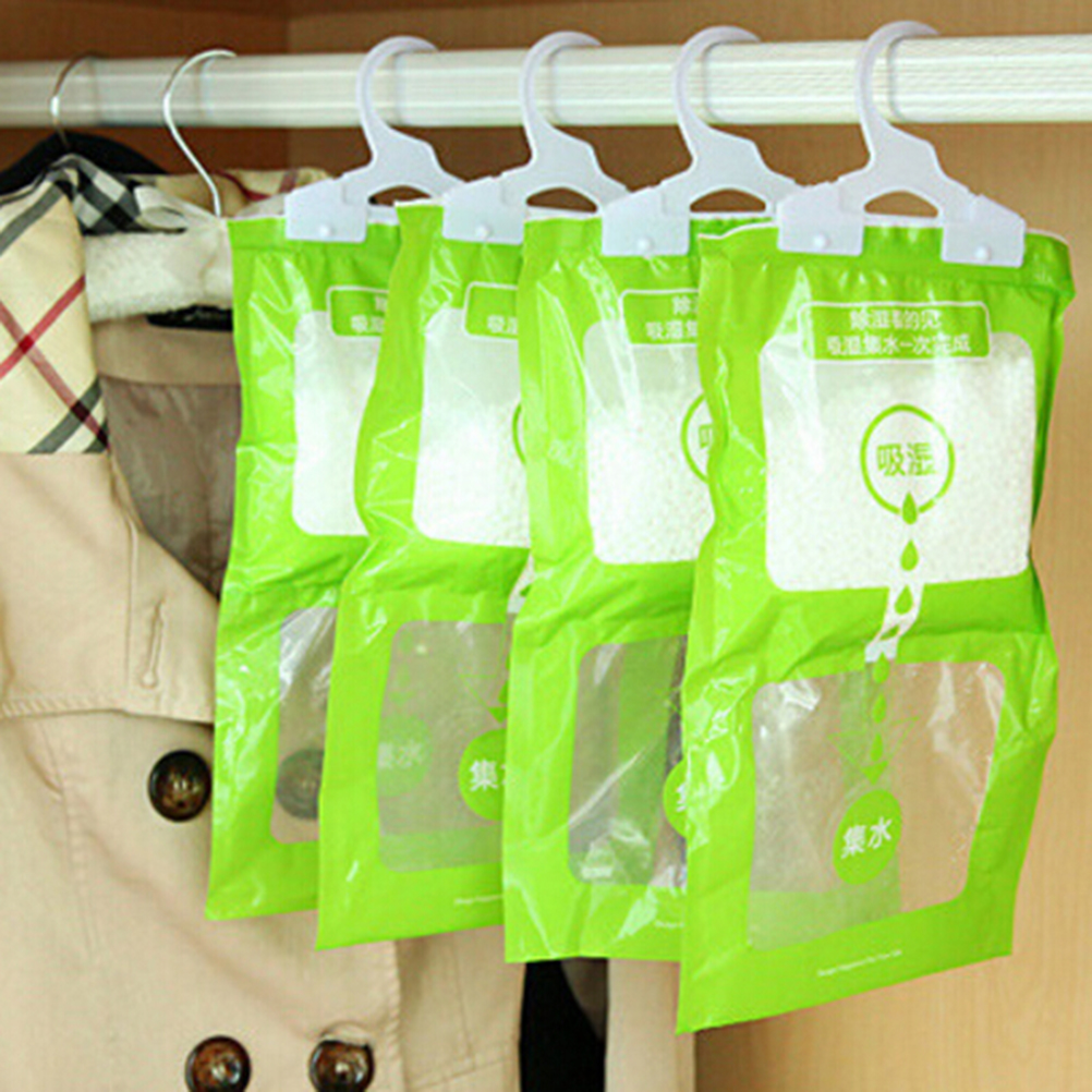1Pcs Household Chemicals Be Hanging Wardrobe Closet Bathroom Moisture Absorbent Dehumidizer Desiccant Dry Bag Cleaning Tools