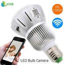 Full HD 1080 P Casa Inteligente Seguridad Wifi Cámara E27 Bombilla LED Lámpara de luz de Seguridad de Vídeo Digital de Detección De Movimiento para PC de la Tableta Del Teléfono
