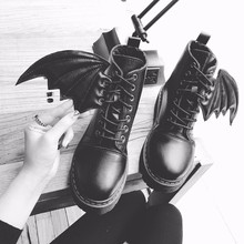 Spring Autumn Little Devil Boots Women All-Match Martin Boots Casual Shoes Woman Cool Zapatos Mujer X096 Bota Feminina