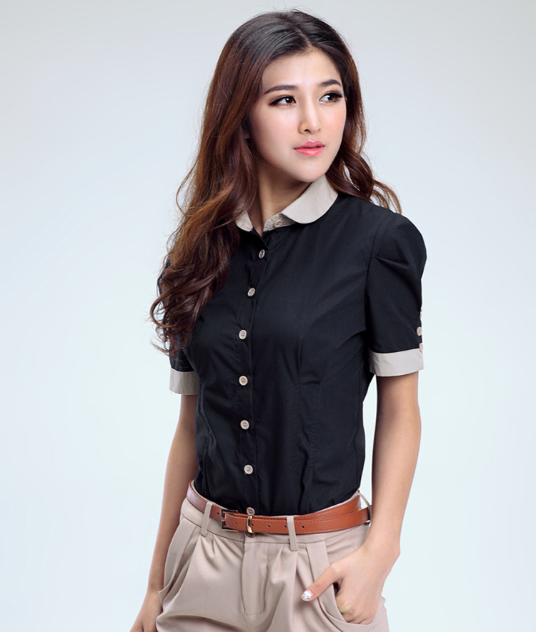 Popular Collar Shirt Womens-Buy Cheap Collar Shirt Womens lots ...