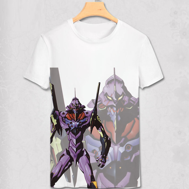 T Shirt Shinji Ikari shirt Japanese Anime Custom Cosplay Shirt EVA Robit Transformation T-shirt