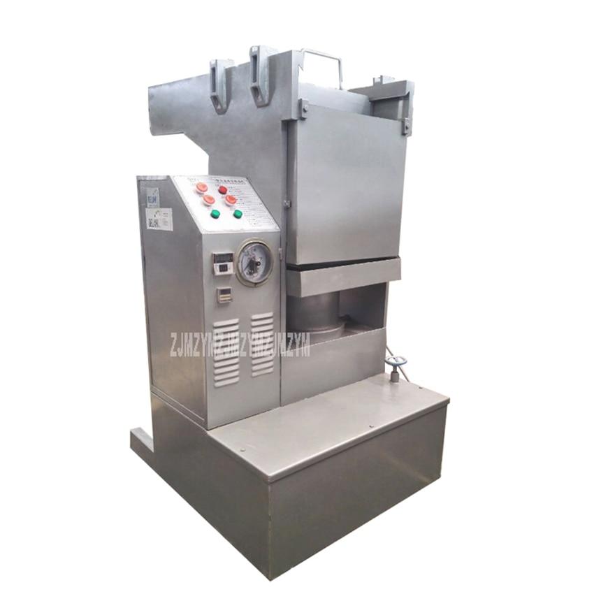 80kg/h Hydraulic Cold Pressing Sesame Sunflower Seed Cocoa Liquor Butter Oil Press Machine Peanut Oil Maker QYZ-410 220V/380V 1