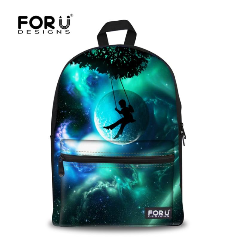 FORUDESIGN Brand 3D Galaxy Space Print School font b Backpack b font For Girls Teenager font