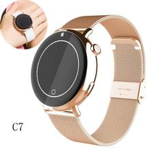 C7 mujer de los hombres de deportes del ritmo cardíaco de bluetooth smart watch smartwatch para android ios teléfono inteligente a prueba de agua reloj de pulsera health tracker