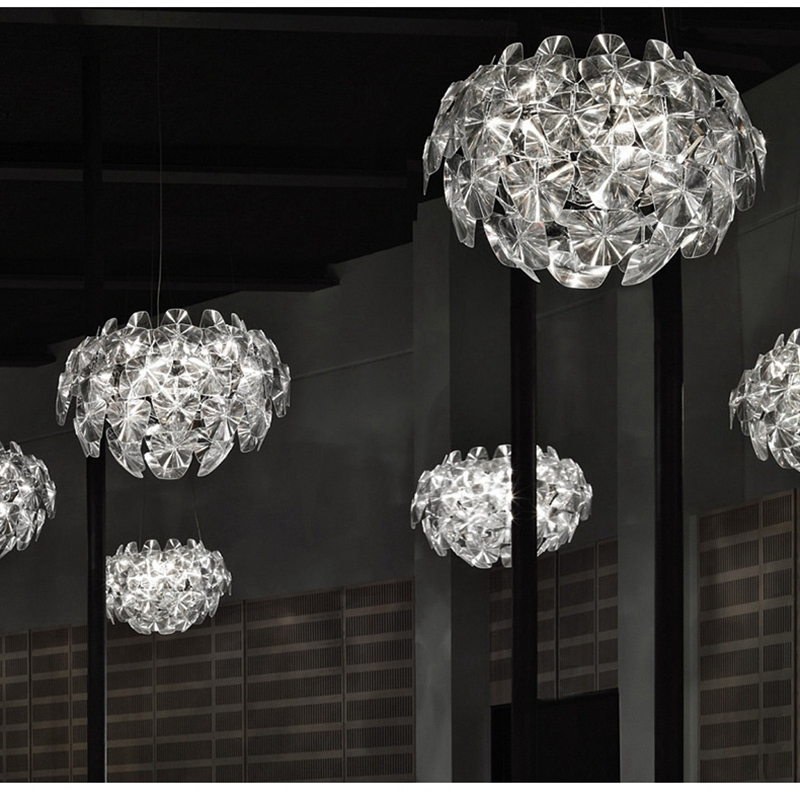 LukLoy Hope Glass Chandelier Pinecone Lamp Lights Foyer Living Room Decoration Modern Milan Francisco Gomez Paz Design Luxury