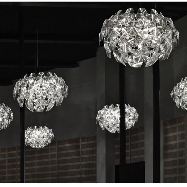 US $183.26 10% OFF|Luxus Acryl Kronleuchter Tannenzapfen Lampe Lichter  Foyer Wohnzimmer Dekoration Moderne Milan Design Leuchten in Luxus Acryl ...