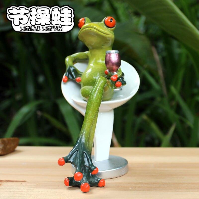 Nouvelle résine étudiant artisanat de grenouille rythmique mode grenouille fleurs merveilleuses maison vie et intérêt cadeau