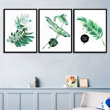 Современный домашний Декор живопись пейзаж растения зеленая