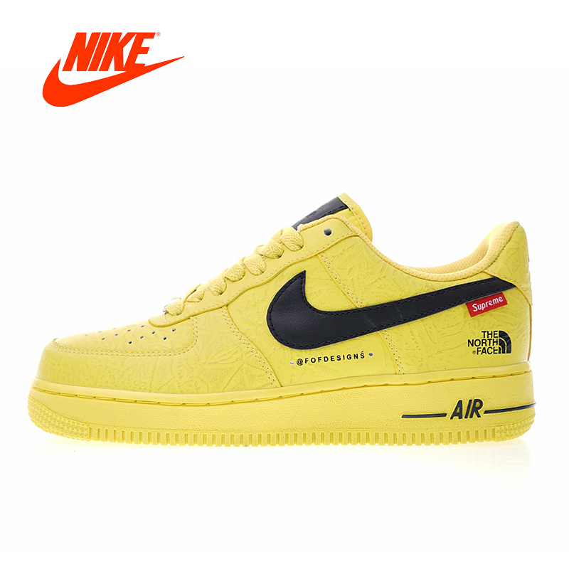 Original New Arrival Authentic Nike Air Force 1 x The North Face x Supreme Men's Skateboarding Shoes Sport Sneakers AR3066-400