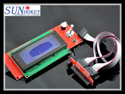 Free shipping !!!  Good quality Ramps 1.4  LCD2004 with SD Socket for  prusa i3 3d Printer for sale