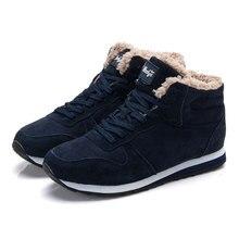 Men boots snow Boots Winter Ankle boots Men shoes Men's footwear lace up winter shoes blue black