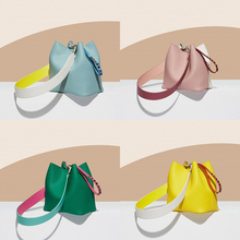 New fashion stitching Bucket Bag Rivet summer candy Handbags set Leather snake pattern strap Design Crossbody Bag for Women M527