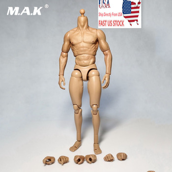 Collectible 1/6 Scale Male Solider Wolverine 1.0 Muscle Nude Body Male Action Figure 12 Toy for 1:6 HT Head Sculpt without Neck for collection solider action figure full set 1 6 78047b russian spetsnaz fsb alpha group male figure standard ver