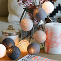 4 Colors 20Pcs/lot Led Cotton Ball String  Light  Christmas Decoration String