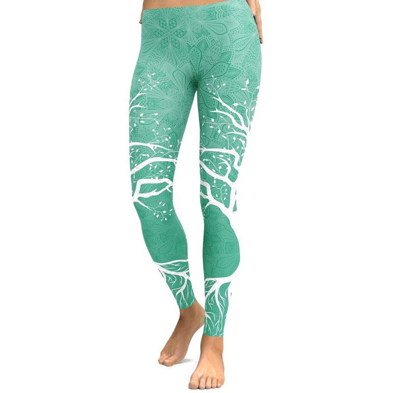 Women's High Elastic Waist Legging High Stretch Sporting Print Fitness   Pants   Female   Pants   Control Workout   Capris   Leggings