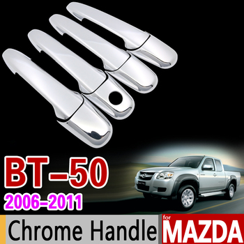 for MAZDA BT-50 2006-2011 Chrome Handle Cover Trim Set BT50 BT 50 2007 2008 2009 2010 Never Rust Car Accessories Car Styling image