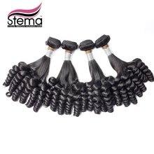 Brazilian Virgin Hair 100% Virgin Human Hair 4pc/lot FUNMI CURL Funmi Popular to Nigeria Color 1B One Donor Hair Extension