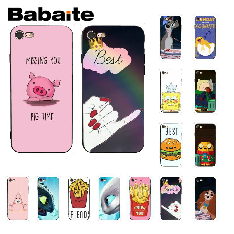 Babaite Best Friend Girlfriend Boyfriend Soft Phone Cover for iPhone X XS MAX 6 6S 7 7plus 8 8Plus 5 5S XR 11 11pro 11promax image