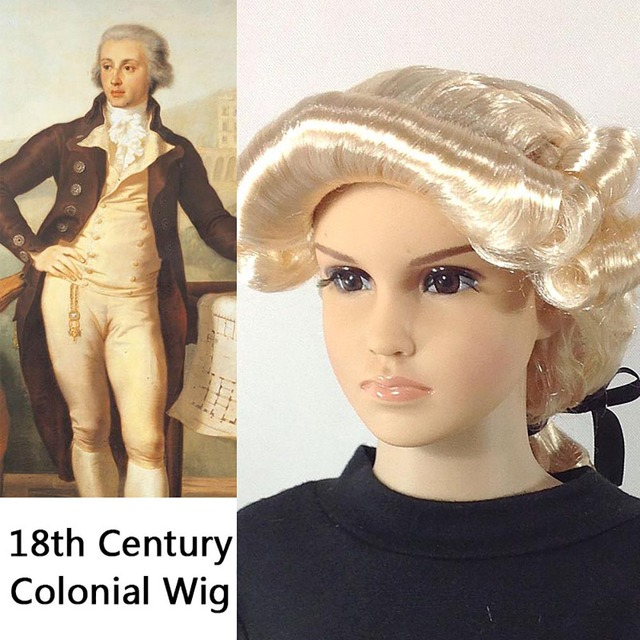 18th Century Colonial Costume Blonde Curly Hair for Kid French Prince Count Aristocrat Peruke Maison de Bourbon Fancy Dress